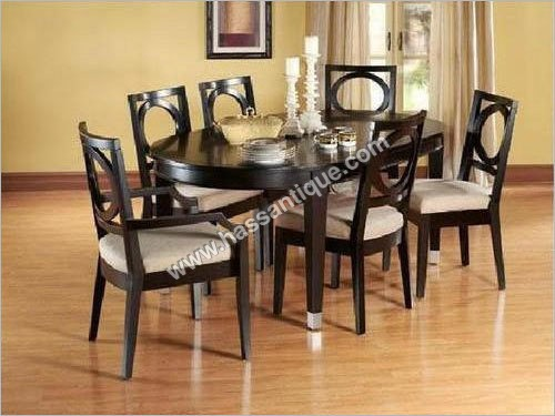 6 Chair Teak Wood Dining Table