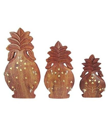 Desi Karigar Beautiful Wooden Handicrafts Wall Hanging & Wall key Holders Set of 3