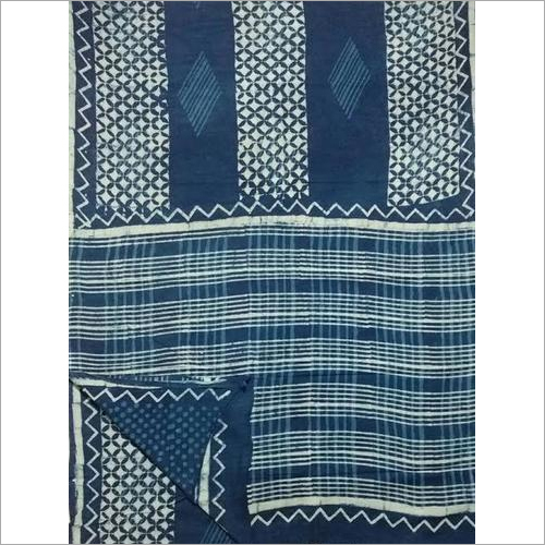 IndiGo Print Cotton Sarees with Blouse