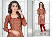 Unstitched Cotton Printed Kurti