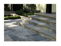 Grey Stone Entrance Steps