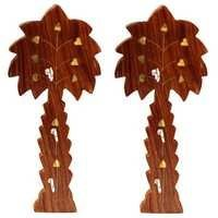 Desi Karigar Handmade Wooden Key Hanger Holder Wall Décor - Set of 2