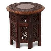Desi Karigar Sheesham Wooden Foldable Table