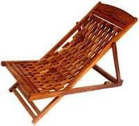 Desi Karigar Folding Garden Easy Chair In Sheesham Wood