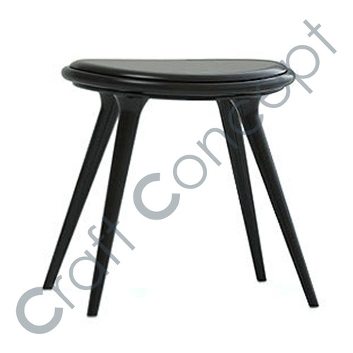 WOODEN & LEATHER STOOL