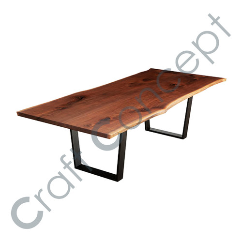 LONG WOODEN DINING TABLE WITH METAL LEGS