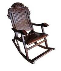 Desi Karigar Sheesham Wood Rocking Chair Chariot
