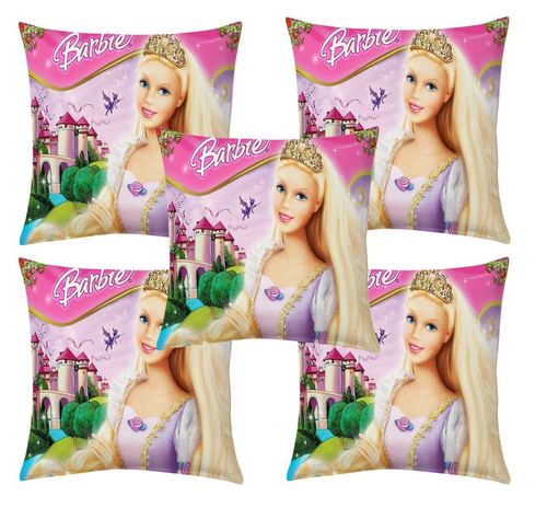 Barbie Doll Printed Cushion Cover