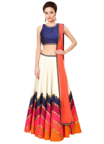 Party Wear Banglory Silk Lehenga Choli