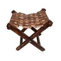 Desi Karigar Wooden Foldable Stool/Chair/Table Made From Natural Wood