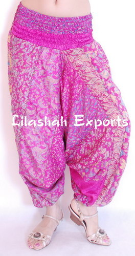 Vintage Silk Saree Patch Work Alibaba Pant Afgani Trouser