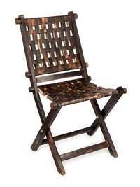 Desi Karigar Vintage High Back Lounge Chair (Brown)