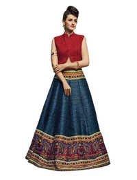 Designer Bridal Velvet Lehenga Choli