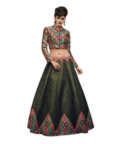 Exclusive Satin Saree Lehenga