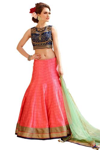 Designer Bridal Silk Lehenga Choli