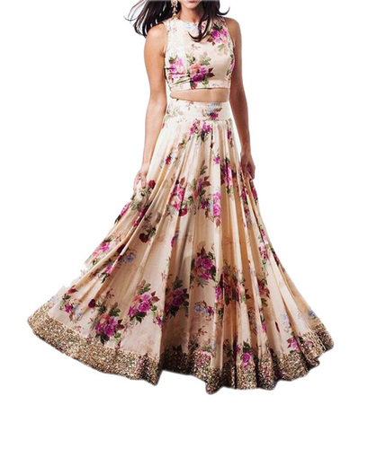 Exclusive Crepe Saree Lehenga
