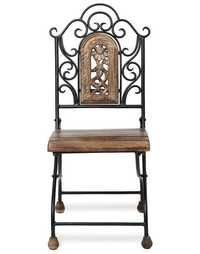 Desi Karigar Antique Child'S Wood & Iron Chair With Handmade Design Size (Lxbxh-12X13X29) Inch