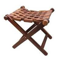 Desi Karigar Wooden Foldable Stool/Chair