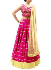 Designer Silk Embroidered Lehenga