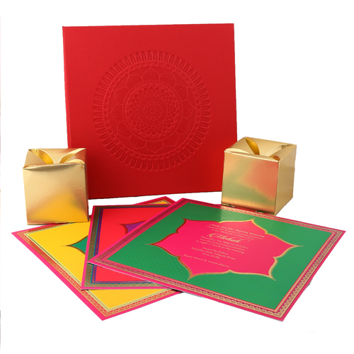 Ethnic Design wedding card box - Bakshi Glazing Press, A-30