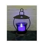 Desi Karigar  Iron & Glass Tea light Holder