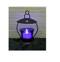 Desi Karigar  Iron & Glass Tea light Holder