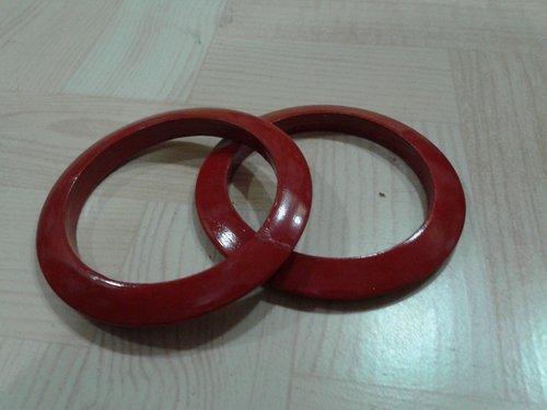 Desi Karigar Wooden Bangles - Red ( Red, 2.5 inch )