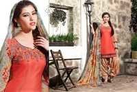 Buy Beautiful Embroidered Patiyala Suit Online