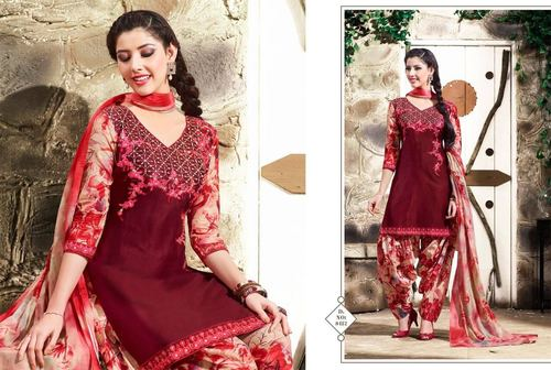 Shop Shaded Colour Patiyala Suit Online