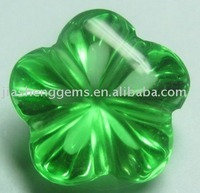 Flower Cut Green CZ