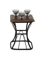 Desi Karigar Wooden & Iron Home Decor Table Size(LxBxH-12x12x15) Inch