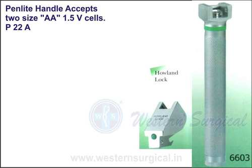 Penlite handle accepts two size