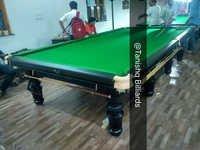 Snooker Table In Steel Block Cushions