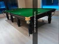 Tournament Snooker Table In Steel Block Cushion