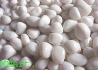 Factory direct supply Snow white polished pebbles
