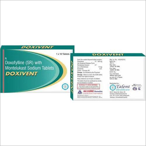 Doxofylline 400 mg + Montelukast 10 mg