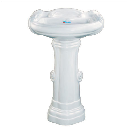 Big Sterling Set Pedestal Wash Basin