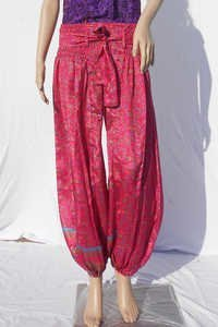 Silk Beachwear Casual Trousers