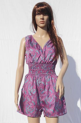 Silk Beachwear Casual Jumpsuit