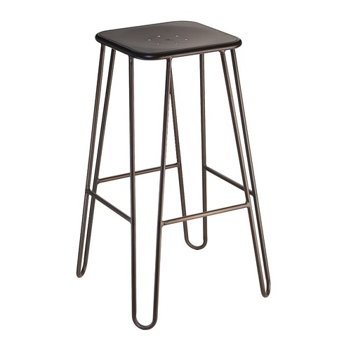 Industrial Wooden Square Hairpin legs bar stool