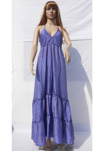 Silk Beachwear Casual Long Dresses