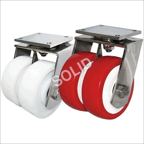 Heavy Duty Twin Wheels Stainless Steel Caster