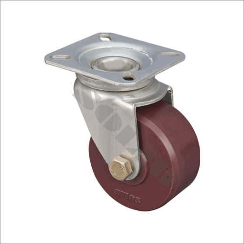 Eyelet Pressed Brown Steel Caster