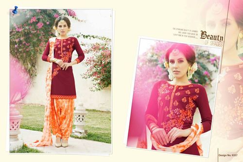 Shop Cambric Cotton Patiyala Suit Online