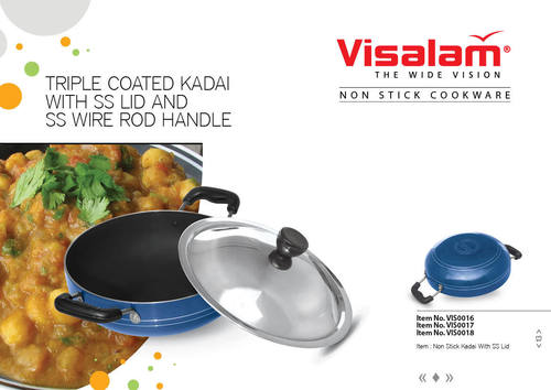NON STICK KADAI (THREE LAYER COATING)