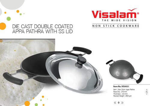 D/C Appachatty With Lid(Two Layer Coating)