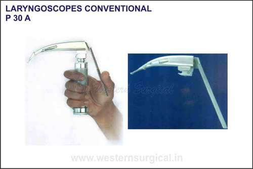 Laryngoscopes conventional (trupti blades with flexible articulating tip)