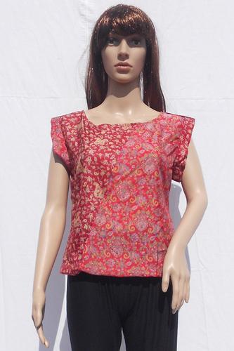 Silk Beachwear Casual Tops