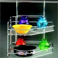 Ss Corner Rack (Double Tier