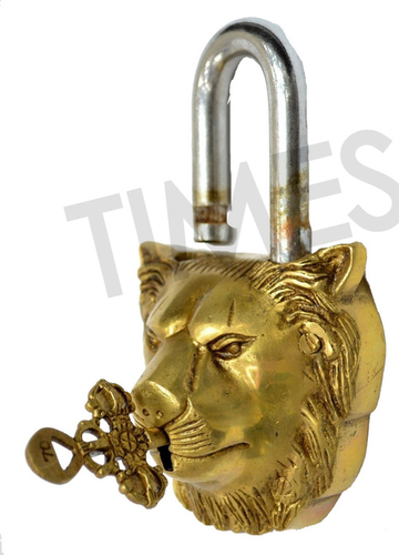 Brass Lion Pad Lock